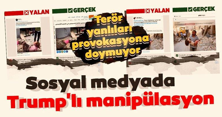 Barış Pınarı Harekatı'na sosyal medyada Trump'lı manipüle çabası!