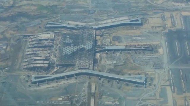 3. havalimanının son hali havadan görüntülendi