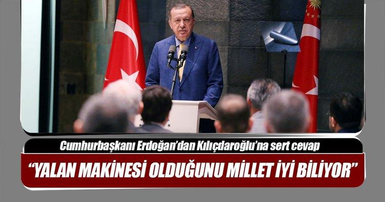 Cumhurbaşkanı Erdoğan'dan Kılıçdaroğlu'na sert cevap