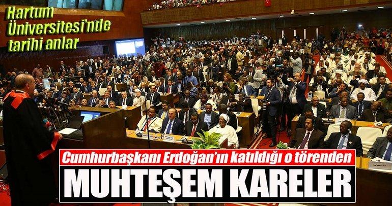 Cumhurbaşkanı Erdoğan'ın katıldığı törenden muhteşem kareler