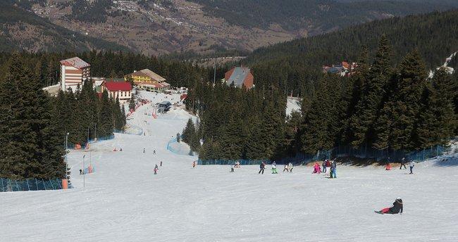 Ilgaz Kayak Merkezi yolu buz tuttu