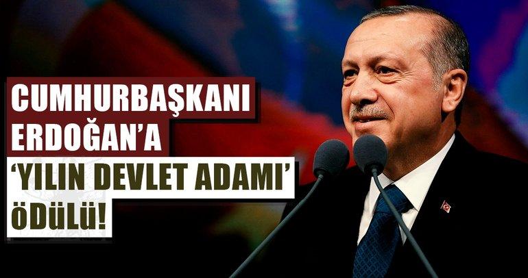 Cumhurbaşkanı Erdoğan'a 'Yılın Devlet Adamı' ödülü verildi