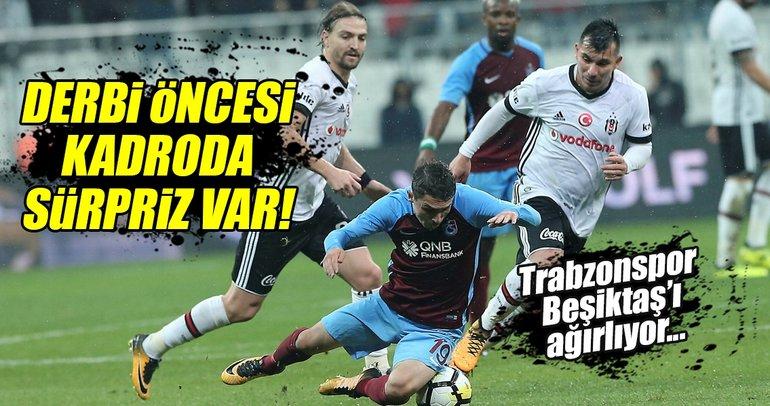 Trabzonspor - Beşiktaş muhtemel 11'leri