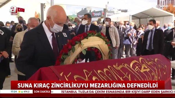 Vehbi Koç'un kızı Suna Kıraç son yolculuğuna uğurlandı | Video