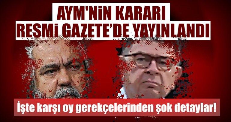 AYM'nin Alpay ve Altan kararının karşı oy gerekçeleri!