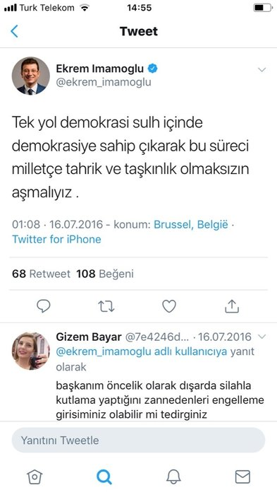 15 Temmuz'da 'Sulh' elçisi kesilen İmamoğlu Gezi'de bakın neler yapmış!