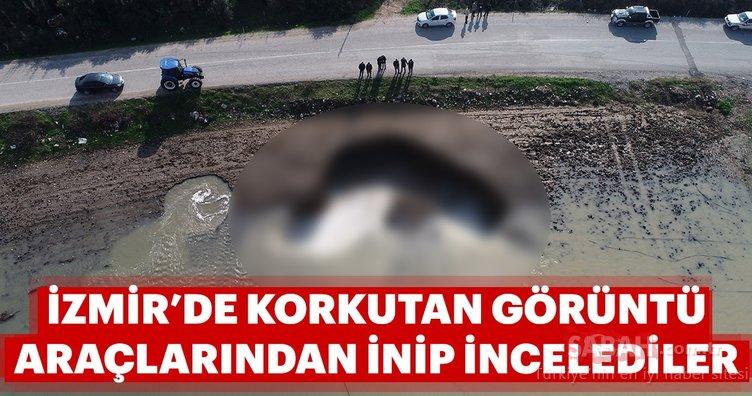 İzmir'de korkutan görüntü! Derin obruklar meydana geldi