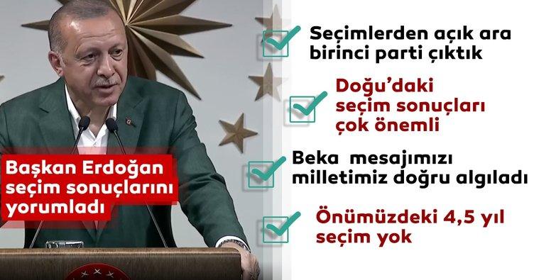 Başkan Erdoğan'dan önemli seçim açıklaması
