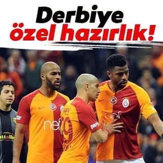 Galatasaray'da Marcao ve Donk'tan derbiye özel hazırlık! Muriqi...