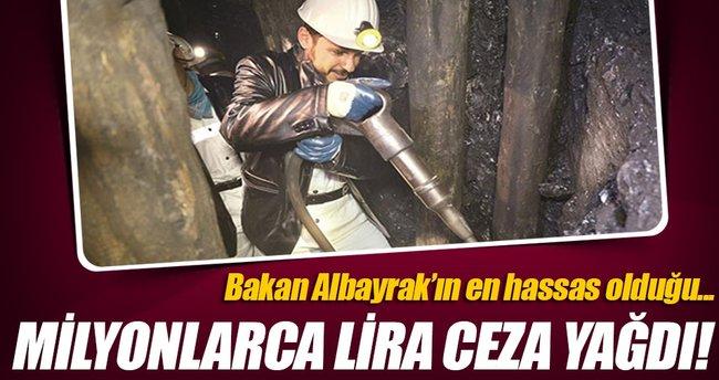 Madenlere 70 milyon liralık iş güvenliği cezası