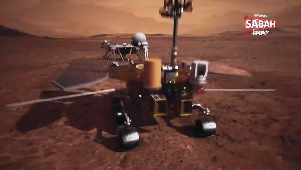 Çin'in Mars keşif aracı Zhurong, Kızıl Gezegen'den fotoğraf gönderdi   Video