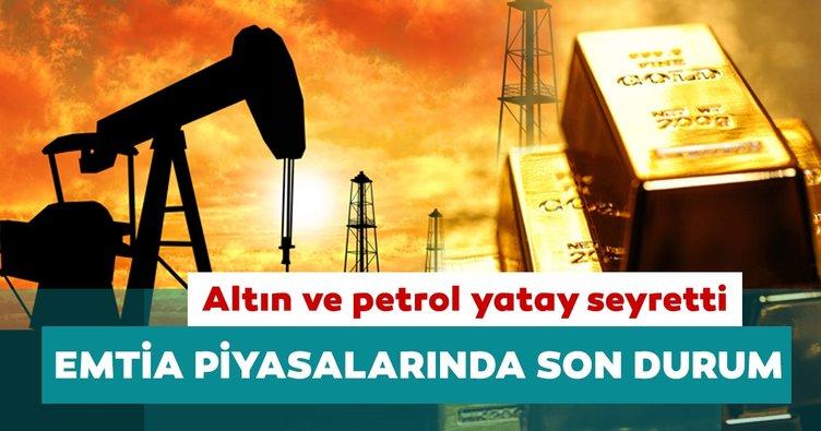 Altın ve petrol fiyatları yatay seyretti: Emtia piyasalarında son durum...