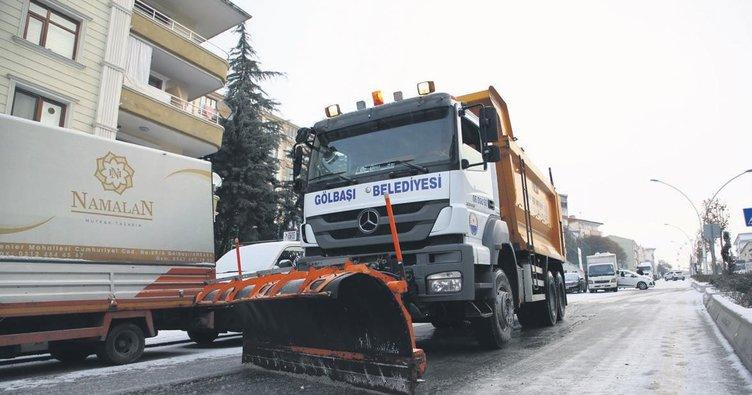 Gölbaşı Belediyesi zorlu kışa hazır