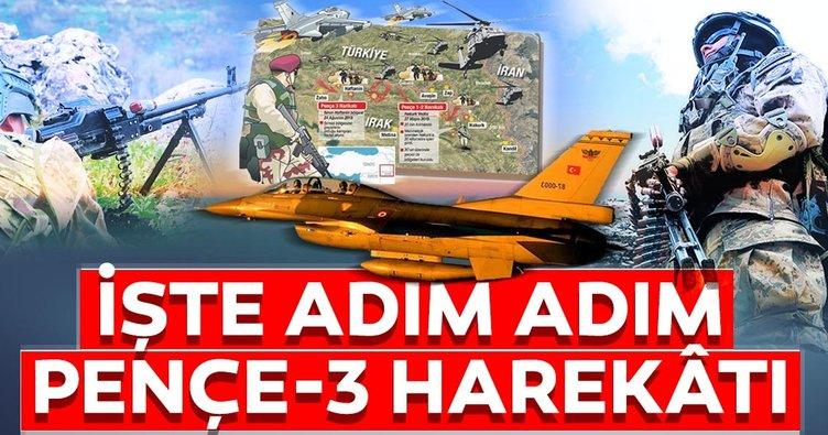 SON DAKİKA: Pençe Harekatı'nda terör örgütü PKK'ya büyük darbe! İşte adım adım Pençe-3 Harekâtı!