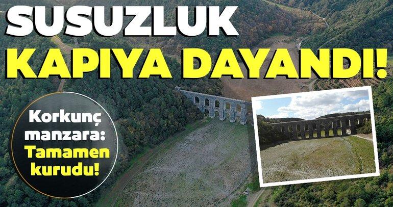 Son dakika: İstanbul'da korkunç manzara: Tamamen kurudu, susuzluk kapıya dayandı...
