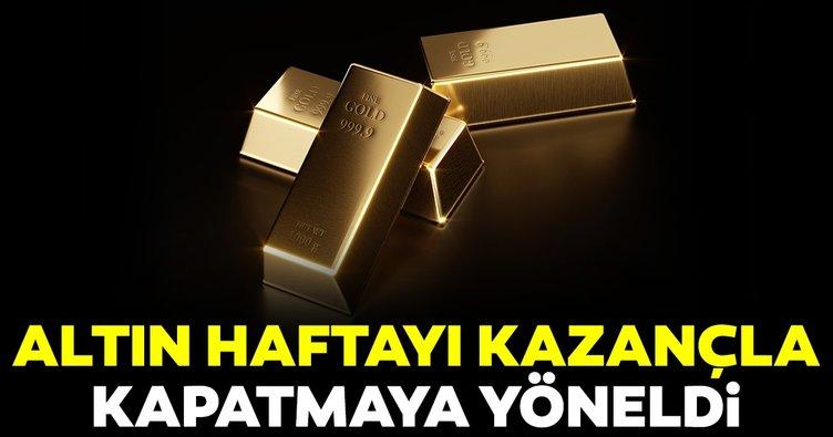 Altın fiyatları bir ayın ilk haftalık kazanımını kaydetmeye hazırlanıyor