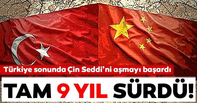 Türkiye sonunda Çin Seddi'ni aşmayı başardı