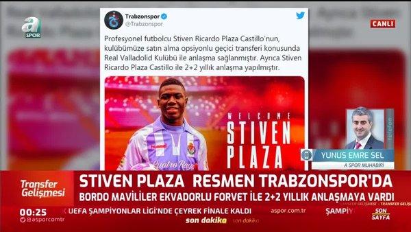 Stiven Plaza resmen Trabzonspor'da! | VİDEO