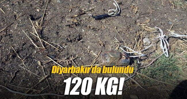 Diyarbakır'da 120 kilo patlayıcı bulundu