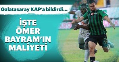 Galatasaray, Ömer Bayram transferini KAP'a bildirdi