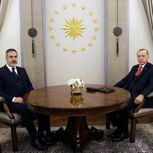 Başkan Erdoğan, MİT Başkanı Fidan'ı kabul etti
