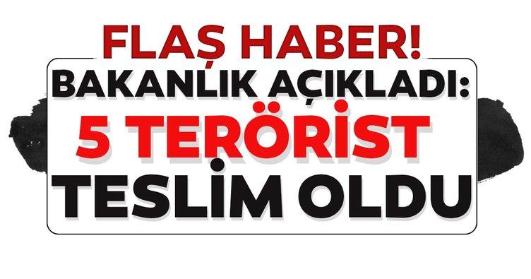 MSB açıkladı! : PKK'lı 5 terörist, Silopi'de güvenlik güçlerine teslim oldu.