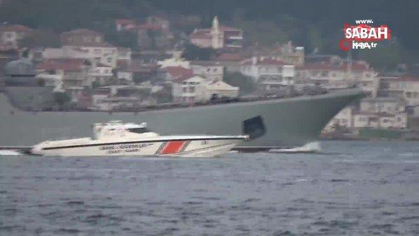 Rus savaş gemileri peş peşe Çanakkale Boğazı'ndan geçti   Video