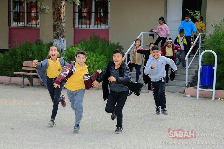 Okullarda ilk ara tatil başladı! Öğrencilerin sevinci kameralara böyle yansıdı