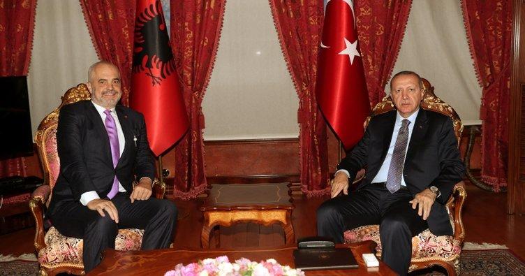 Erdoğan Arnavutluk Başbakanını kabul etti