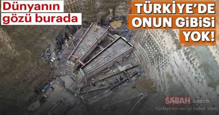 Türkiye'nin en yüksek barajının yapımı sürüyor