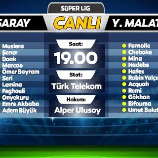 CANLI | Galatasaray - Yeni Malatyaspor