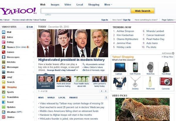 İşte Yahoo'nun Top 10'u