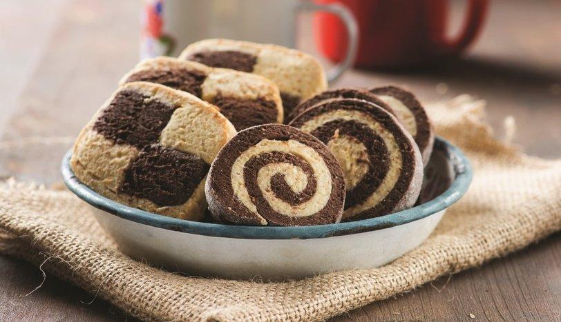 Dama ve spiral kurabiye