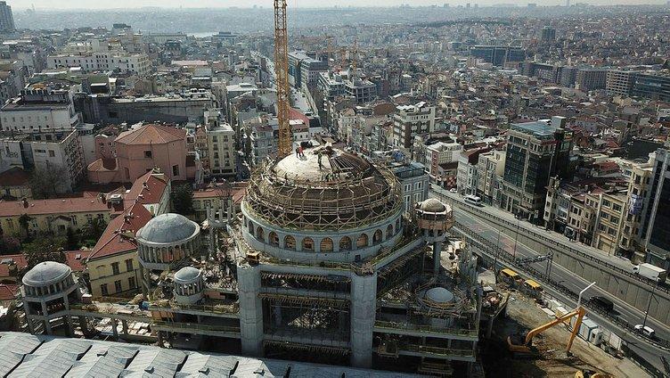 Taksim Camii'nin kaba inşaatının yüzde 85'i tamamlandı