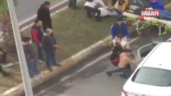 Yakınının kazada yaralandığını gören genci kimse sakinleştiremedi | Video