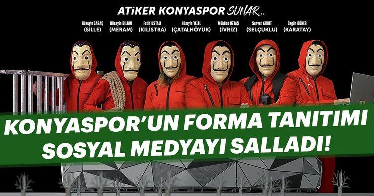 Konyaspor'dan görülmemiş forma tanıtımı!