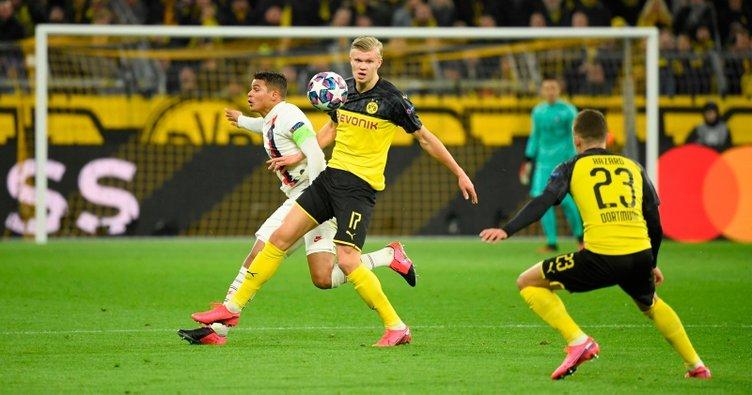Erling Haaland yıldızlaştı, Dortmund avantajı kaptı! Borussia Dortmund 2 - 1 PSG MAÇ SONUCU