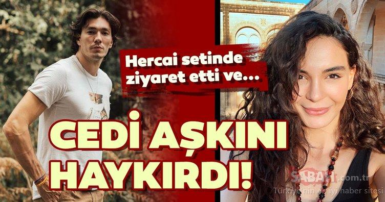 Cedi Osman güzel sevgilisi Ebru Şahin ile Hercai setinde buluştu! Cedi Osman ile Ebru Şahin'n aşk pozu beğeni topladı!