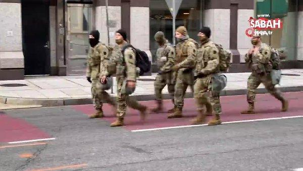 ABD'de başkent Washington'da Ulusal Muhafızlar sokaklarda görev yapıyor | Video