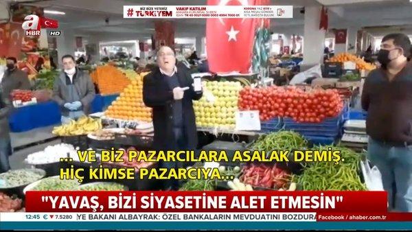 Sözünü tutmayan CHP'li Mansur Yavaş'a pazarcılardan tepki | Video