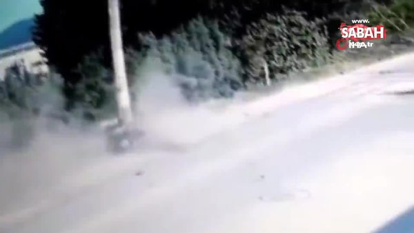 1 kişinin öldüğü feci kazanın güvenlik kamerası görüntüleri ortaya çıktı   Video
