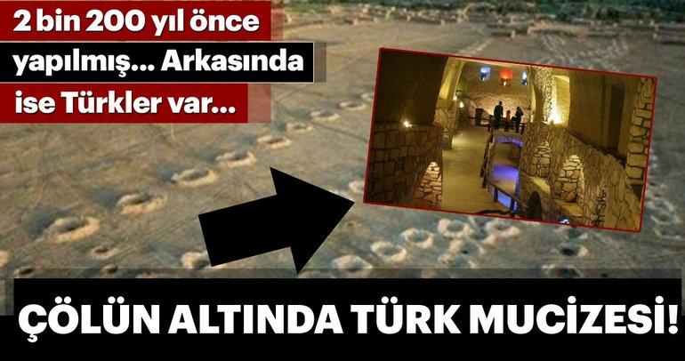 Çölün altında büyük Türk mucizesi!