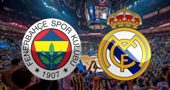 Fenerbahçe-Real Madrid basketbol maçı saat kaçta, hangi kanalda canlı yayınlanacak? Maçı canlı izlemek için tıklayın!