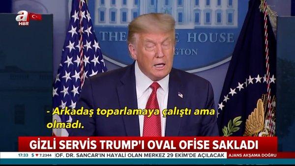 Son Dakika Haberi | Beyaz Saray'da saldırı alarmı! Gizli Servis ABD Başkanı Donald Trump'ı Oval Ofise sakladı | Video