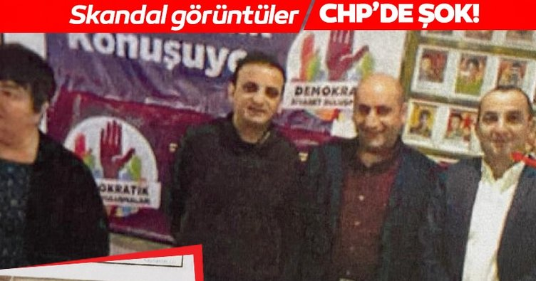 SON DAKİKA | CHP'den skandal görüntüler! PKK paçavrası önünde...