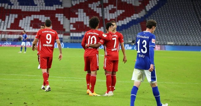 Bayern Münih ezdi geçti! Tarihi fark   Bayern Münih 8-0 Schalke 04 - Son  Dakika Haberler