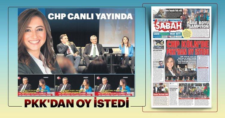 CHP Köln'de PKK'dan oy istedi