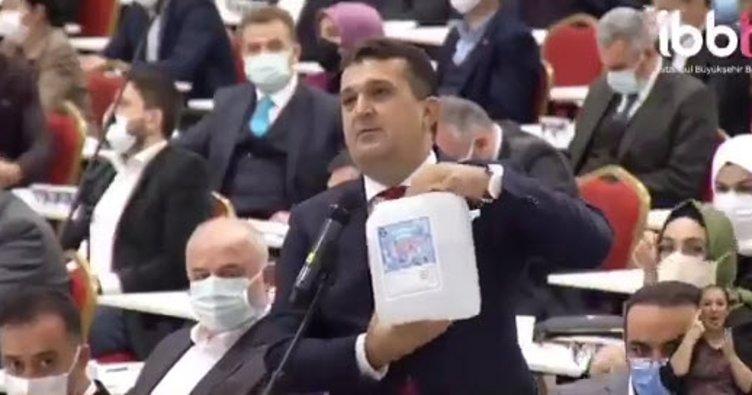 İBB Başkanı dezenfektanı fahiş fiyata satın aldı