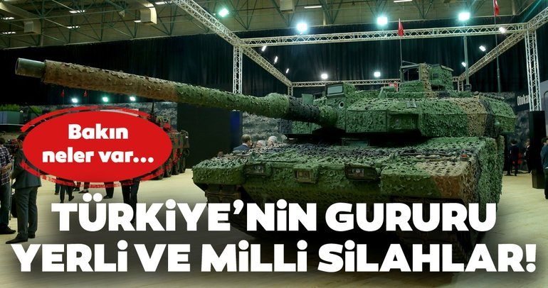 Türkiye'nin gururu yerli ve milli silahlar! İşte yerli teknoloji ürünü olan silahlar...