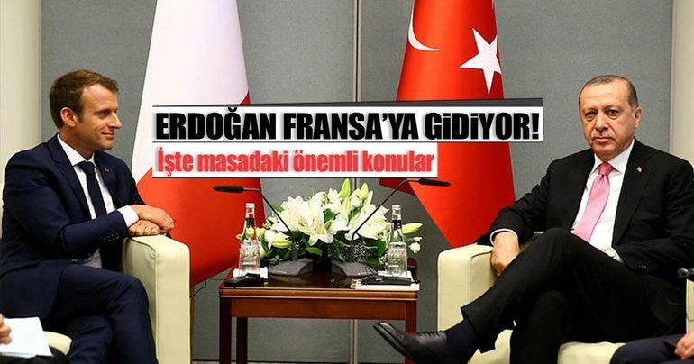 Cumhurbaşkanı Erdoğan'ın Fransa ziyaretinin detayları...